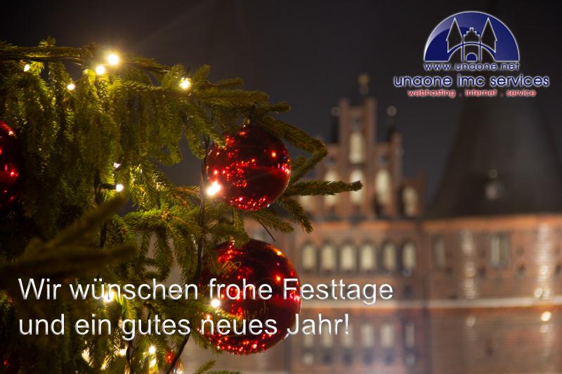 Frohe Festtage und ein gutes neues Jahr!